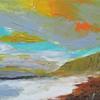 Weybourne Beach North Norfolk. Acrylic painting on canvas. Size 50 x 20 x 3 cm. £250