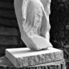 Young woman; relief in Bath stone.