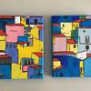 """Part of the Spanish Houses series, this acrylic paintings are on 5 x 7"""" canvases, ready to hang.  Ideal as little Xmas gifts."""