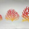 """Reef shapes IV"" - Linocut"