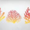 """Reef shapes III"" - Linocut"