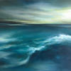 Into the Blue. Oil on canvas. Framed