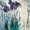 Irises by Anna Perlin, Collagraph