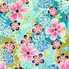 Jo Chesney - Tropical Floral Textile Design. Watercolour Inks