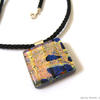 Summer Shimmer fused glass pendant by Jenny Hoole, JHSglass