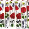 JHSglass - Jenny Hoole - Poppies Wall Hanger 20 x 3cm