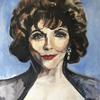 Joan Collins Oil painting 75cm by 60cm