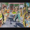 Happiness at Luton Carnival - watercolour
