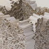 Stack, White stoneware and paper clay