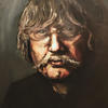 Portrait of Karl Jenkins Oil painting 75cm by 60cm