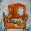 foster kathy 'Äà Orange Chair,  oil on canvas, 60x50cm