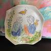 Porcelain plate for rings,earrings and  keys 15cm wide or wall hanging option available