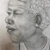 Mandela, graphite sketch
