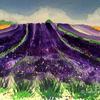 Lavender Fields II ~ watercolour painting