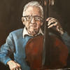 Oil Portrait painting of Lesley Knowles one of the series of Holocaust survivors