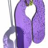 Purple perspex lifejacket necklace with fluro yellow & purple boating cord by Teague