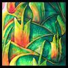 Pine Cone 1 Silk Painting