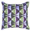 Green & Purple Draincover Cushion, digital print on cotton canvas