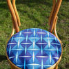 Blue Draincover Fabric on upcycled bentwood chair