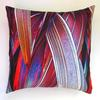 Red Phormium Cushion with feather pad, £50 each available from the artist