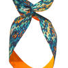 Wired Headscarf featuring the Crete Design, digitally printed on to cotton poplin