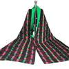 Earth Stripe Silk Scarf, digitally printed silk lined with green silk, limited edition of 3