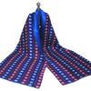 Lights Silk Scarf, digitally printed silk lined with blue silk, edition of 3