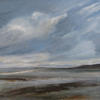 """Low Tide Brancaster"" mixed media 71 x 59 cms.  On canvas framed. £325"