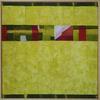 Geo Landscape II -  Framed Textile art - exploring colour and landscape - Marian Hall