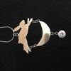 Sterling silver Hare and Moon pendant.