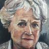Miriam Freeman Oil portrait of a series of paintings of Holocaust Survivors