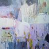 """Morning light"" Acrylic collage on canvas 50 x 50 cm"