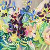 Neon Rose, 50 x 100cm. Acrylic on linen.