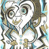 """Title: """"Night Time is Best"""" Medium: Permanent Markers & Graphic Pens on paper NFS"""