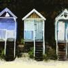 Digital painting, Norfolk Beach Huts