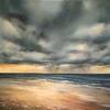 Norfolk coastline. Storm ahead. Oil on Canvas