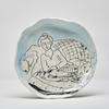 Porcelain People plates, On the Sofa 19cm wide, wall hanging option available