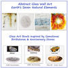 Contemporary Glass Art  Inspired by the Seven Natural Elements:  Earth Air  Water Fire (Wood Metal Aether  by commission)
