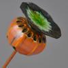 orange poppy seed head