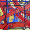 From abstract series of Entrances. Oil on canvas