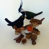 Some of my favourite birds!  Needlefelted with Ryeland, Shetland and Merino wools