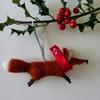 Festive Fox Christmas decoration