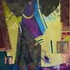 Haberdashery    mixed media painting   Petra Geggie