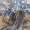 Waterspring - freestanding woven paper yarn