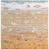 Detail of Beach tapestry in wool, silk and tencel on a cotton warp