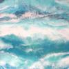 Perseverance Wins 60cmx60cm- A multilayered resin and mixed media seascape