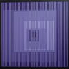 Black Rainbow - Violet. Acrylic on board 24'' x 24''