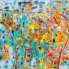 'Inward eye' Acrylic painting on a 50 x 70cm canvas
