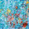 'Spring' Acrylic painting on a 30x30cm canvas