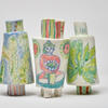 Porcelain People Vessels x3, Plants, Buddha and Cacti, 15cm high x 8cm wide, holds water